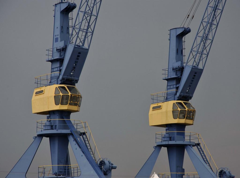 Krane am Rostocker Hafen